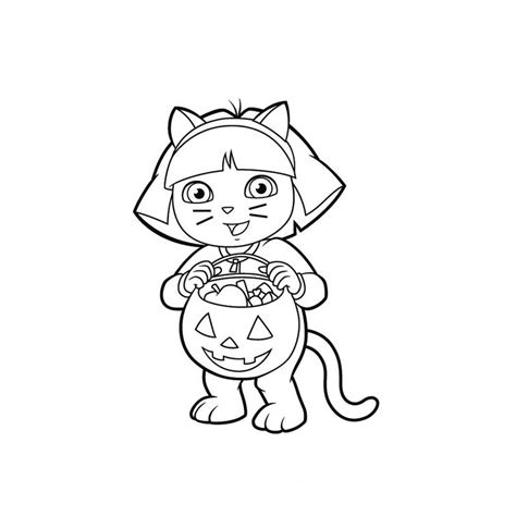 dora the explorer boots coloring pages for kids halloween
