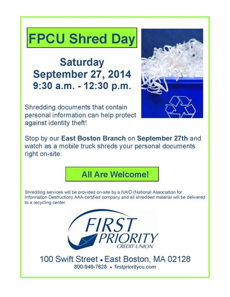 Forum Credit Union Shred Day 2014 Priority Credit Union Shred Day Winthrop Chamber