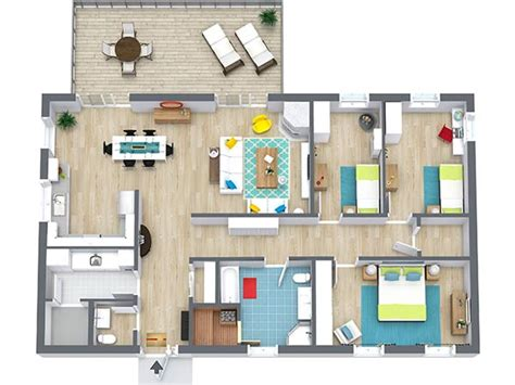 room floor plan free 4 bedroom floor plans roomsketcher