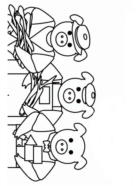 Three Pigs Coloring Pages Disney