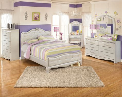 full set bed zarollina youth upholstered bedroom set from ashley b182