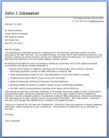 Cover Letters For Pharmacy Technicians by Cover Letter Pharmacy Technician Resume Downloads