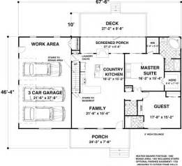 Basement Floor Plans 1500 Sq Ft Ranch House Plan 92395