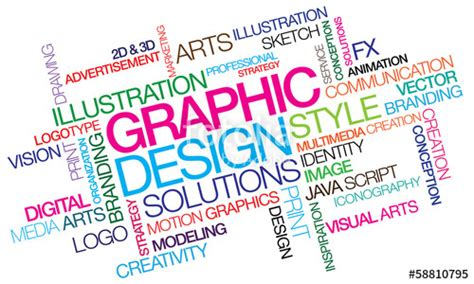 graphics design words quot graphic design colored word tag cloud template