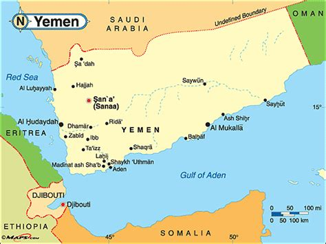 yemen political map  mapscom  mapscom worlds
