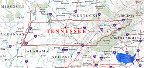 map tennessee tennessee maps