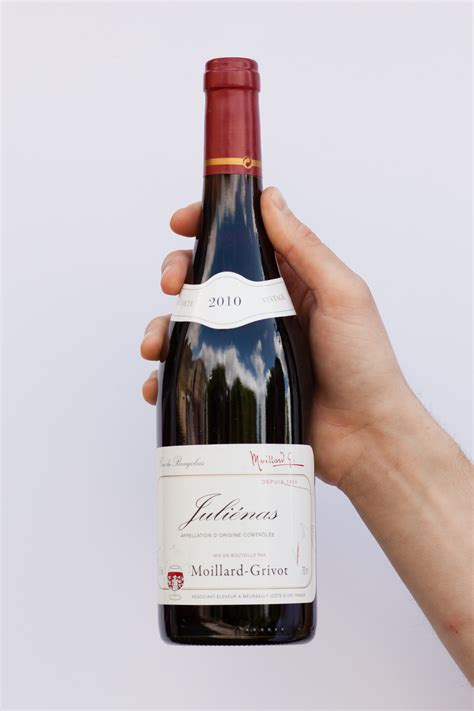 file french beaujolais red wine bottle jpg