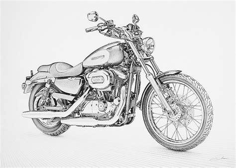 Harley Davidson Drawings by Pencil Drawings Pencil Drawings Harley Davidson