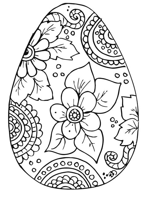 Free Printable Easter Egg Coloring Pages free easter egg coloring pages easter celebration