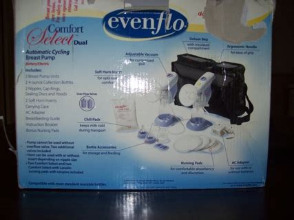 evenflo comfort select breast pump free evenflo comfort select dual breast pump other baby