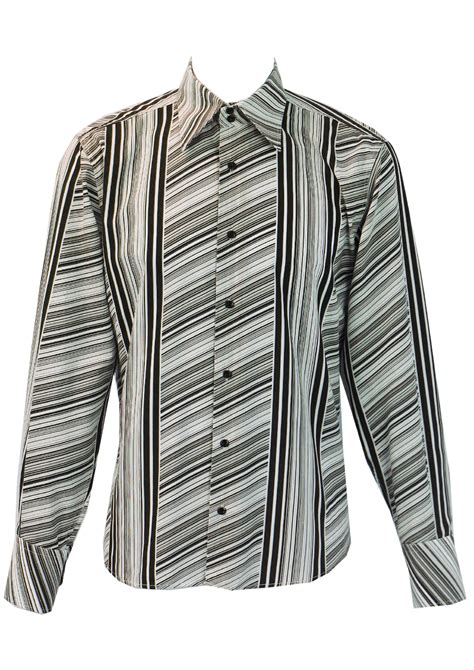 Black Grey Stripe Asymmetric Top Size Mlxl black grey white shirt with asymmetric black grey white stripes m l vintage
