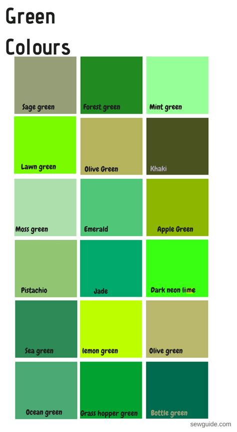 green color names color names in fashion design an easy reference guide