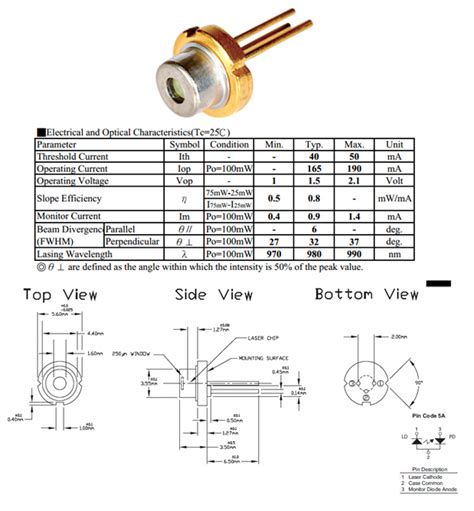 laser diode operation pdf 980nm 100mw laser diode to 56 aixiz