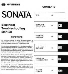 2004 hyundai sonata electrical troubleshooting manual original