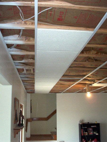 basement ceiling installation easy to install and flush mount lots cheaper than