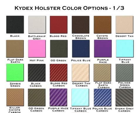 kydex colors kydex colors alaris tactical coloring pages 14468