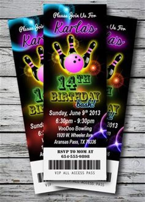 printable bowling tickets printable birthday invitations on pinterest ticket stubs