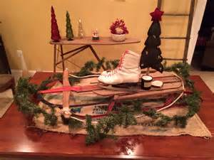 Pinterest Centerpieces For Christmas - sled centerpiece for christmas holiday ideas pinterest