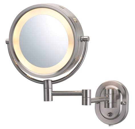 Makeup Mirror With Light by Jerdon Hl65n 8 Inch Lighted Wall Mount Makeup Mirror With 5x Magnification Nickel