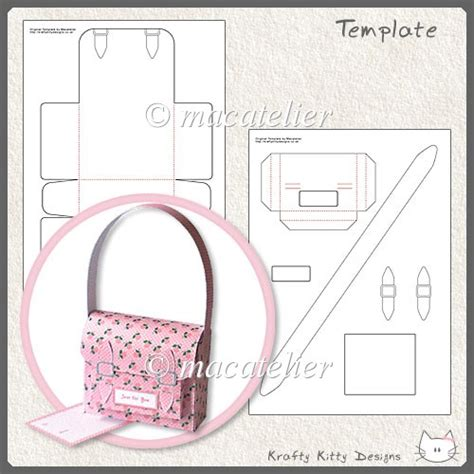 handbag gift box template mini satchel gift box template 163 3 00 instant card