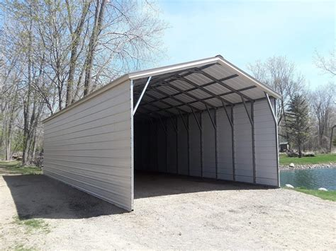 Rv Carports by 18x40x10 Rv Carport With Closed Sides In Sandusky Michigan