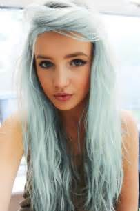 blue colored hair 2016 trendy pastel hair colors haircuts hairstyles 2017