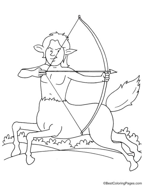 centaur girl coloring page centaur pages printable coloring pages