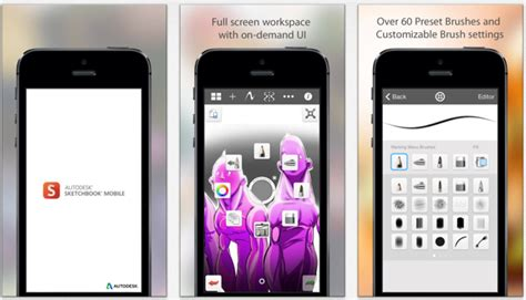 sketchbook pro mobile app der woche autodesk sketchbook f 252 r iphone und