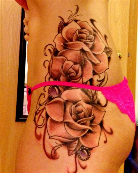 rose tattoo down side best 25 side tattoos ideas on