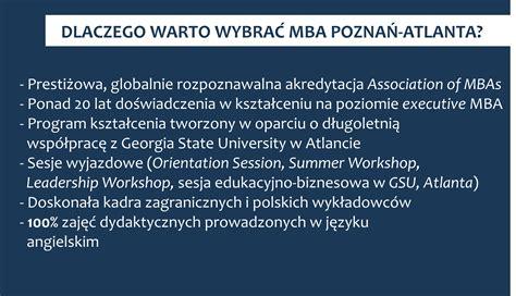 Atlanta Executive Mba Programs by O Programie Uniwersytet Ekonomiczny W Poznaniu