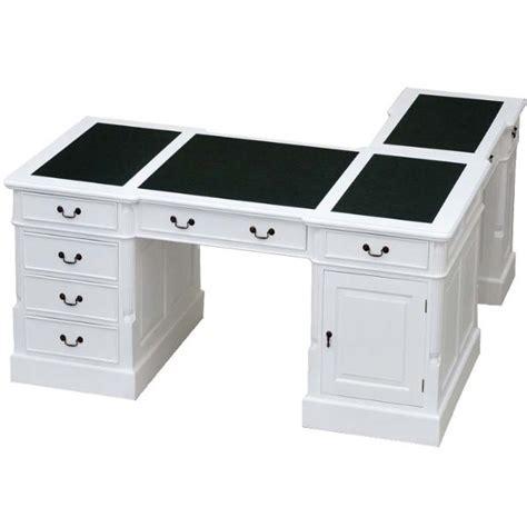 bureau d 騁ude anglais bureau d angle victorien acajou blanc cambridge meuble