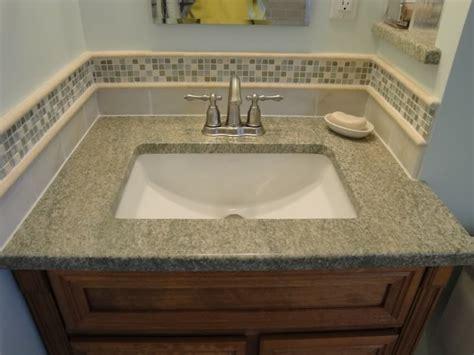Tile Bathroom Sink - bathroom tile accent ideas used the glass tile