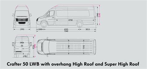 volkswagen crafter dimensions new volkswagen crafter 50 utility van super high roof