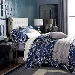 White And Navy Duvet Cover White And Blue Floral Bedding And Other Beautiful Print Design
