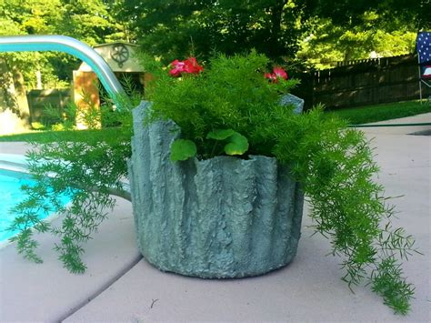 Decoupage Kitchen Cabinets by How To Make Cement Draped Planters Hometalk