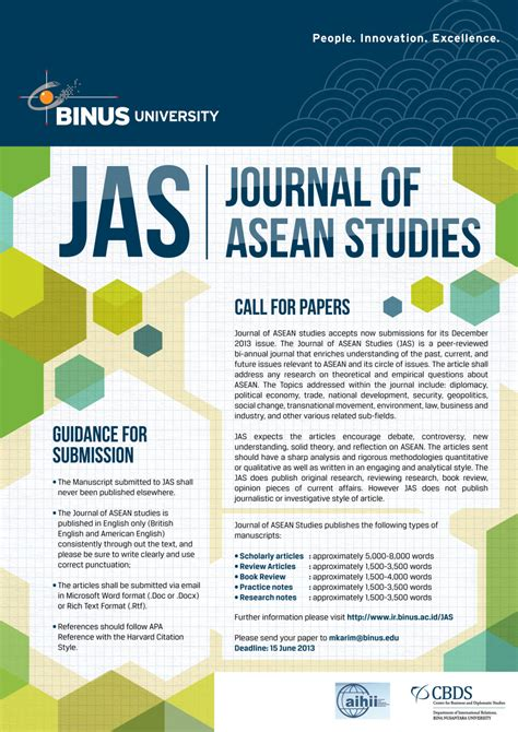 journal of business research call for papers journal of asean studies call for papers