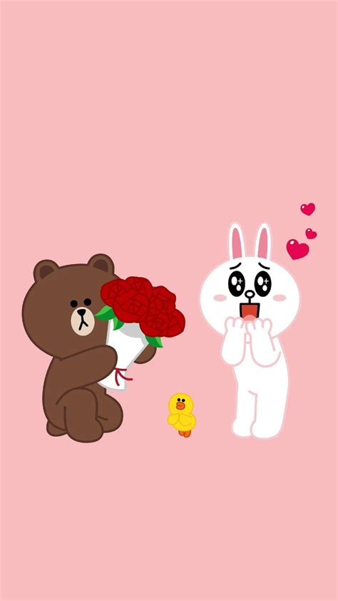 wallpaper chat line iphone line friends h 236 nh nền iphone pinterest brown