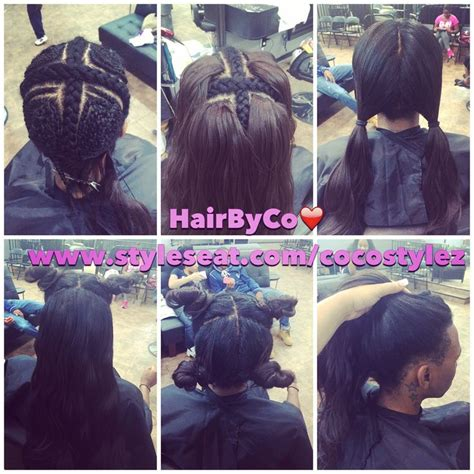 ways you can put braid weave in a donut bun vixen sew in by cocostylez out of roselle nj ocean salon