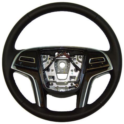 cadillac xts steering wheel black leather brown