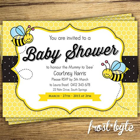 Baby Shower Invitations Themes by Bumblebee Baby Shower Ideas Baby Ideas