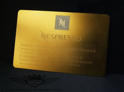 Visitenkarten Gold by Visitenkarte Der Luxusklasse Aus Edelstahl Und In 24 Karat