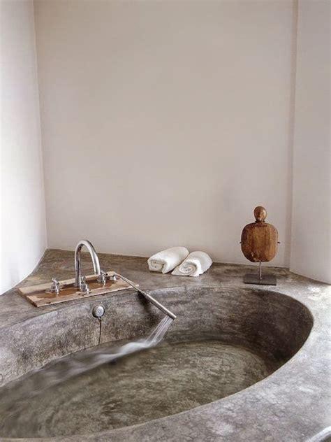 concrete bathtubs bathroom concrete bathtub bathtubs pinterest