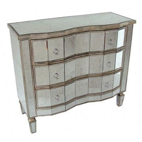 Antique Mirrored Chest Of Drawers antique mirrored shabby chic venetian chest of 3 drawers shabby chic free delivery coco54