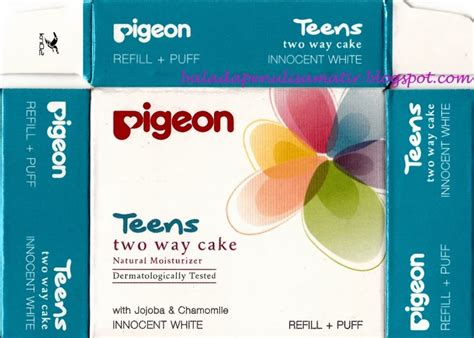 Bedak Pigeon Two Way Cake talks pigeon two way cake white