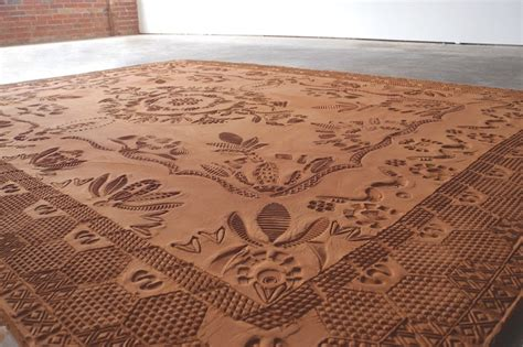 dirt rug ephemeral rug formed from careful movements of special shoes