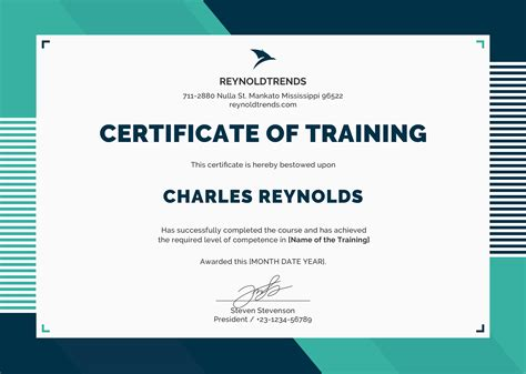 free templates for training certificates free company training certificate template in psd ms word