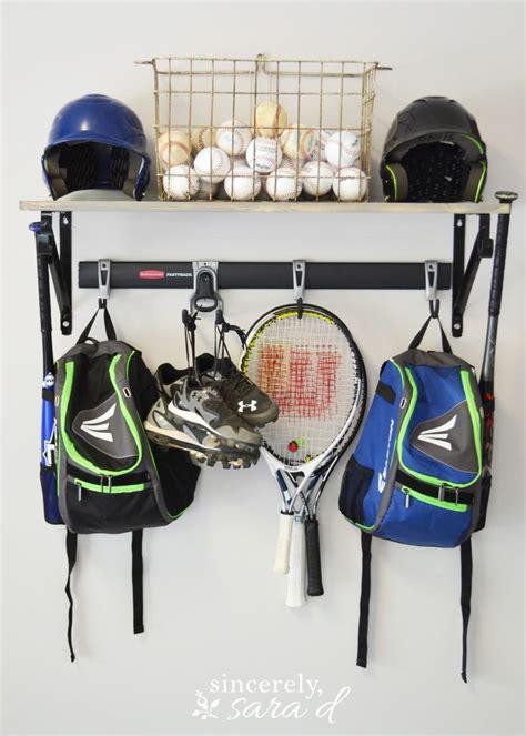 Garage Storage Ideas Sports Equipment 17 Best Ideas About Sports Equipment Storage On