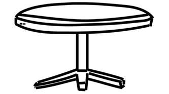 round table line drawing illustration animation with