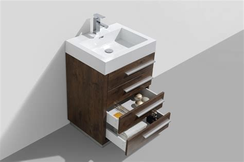 24 Inch Bathroom Vanity With Drawers 24 Inch Wood Finish Modern Bathroom Vanity With Four Drawers