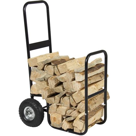 rolling carrier firewood cart log carrier fireplace wood mover hauler rack caddy rolling dolly